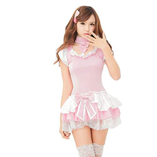 es Für Damen Nachtwäsche & Bademäntel Für Damen Sexy Unterwäsche Sexy Unterwäsche Süß Cosplay Sexy Uniform Cos Anime, Pink, One Size ()
