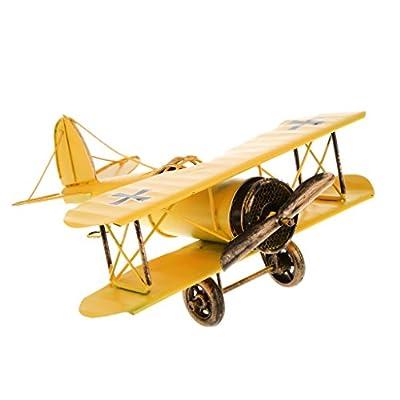 Jahrgang Metall Flugzeugmodell Doppeldecker Militärflugzeuge Nach Hause Dekor Spielzeug von Unbekannt