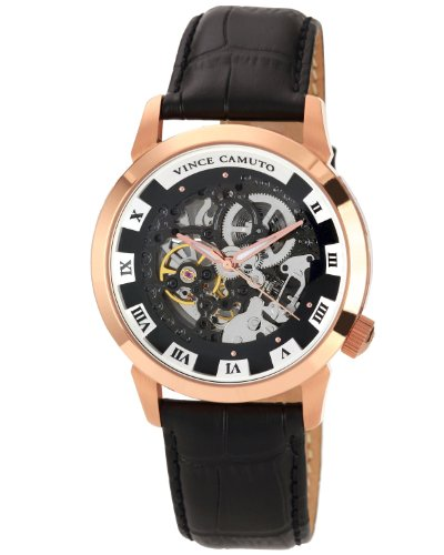 vince-camuto-mens-automatic-watch-with-black-dial-analogue-display-and-black-leather-strap-vc-1007bk