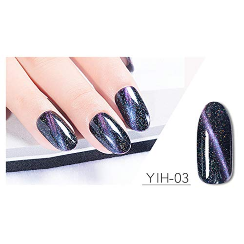 samLIKE Nagellack, Fashion Glitter UV & LED Nail Polish Superglanz Nagelkunst Glanz Nagellack Gel Langanhaltender Maniküre-Lack Glänzende Nägel 15ml (C)