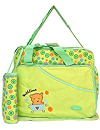 Kayakare Multi Compartment Mother Daiper Bag/For Baby Care Daiper Changing Mat And Bottle Cover (Aagelo Lite Green)