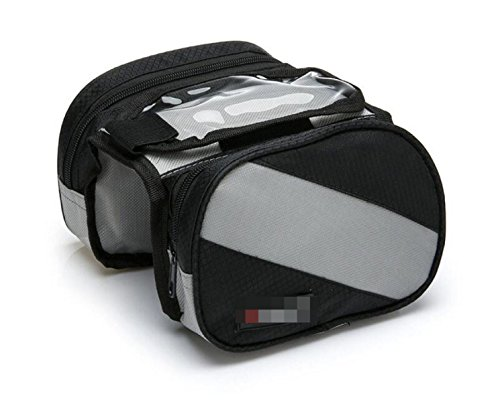 OGTOPOGTOPMountain Fahrrad Touchscreen Satteltasche Verpackungsfrontbalken Verpackungsfahrradzubehörpaket Reitgerätezubehör Black