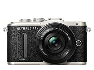 Olympus V205082BE000 PEN E-PL8 14-42 mm Camera ED M.Zuiko EZ Pancake Lens Kit - Black