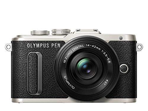 "Olympus Pen E-PL8 - Cámara Evil de 16 MP (Pantalla táctil abatible de 3"", estabilizador, vídeo FullHD, WiFi), Color Negro - Kit con Cuerpo y Objetivo M.Zuiko Digital 14 ‑ 42 mm EZ Pancake"