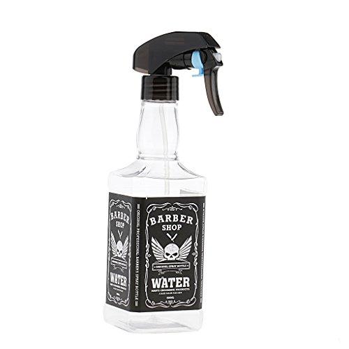 Baosity Plastique Vaporisateur Vide Bouteille Spray à Brouillard en Plastique Rechargeable à Parfum Huile Essentielle Lotion de Cheveux - 500ml - Blanc, comme décrit