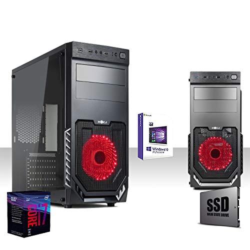 Pc Desktop Gaming Intel I7 8700 8th Gen 4.3 GHZ SIX CORESsd 240gb/Ram 16gb Ddr4 2400MhzWindows10 Pro 64 BitWifi 300 MbpsEditinggraficaufficiolavoro