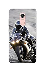 Redmi Note 4, Redmi Note 4X Case, Bike Racer Grey Black Slim Fit Hard Case Cover/Back Cover for Redmi Note 4/Redmi Note 4X