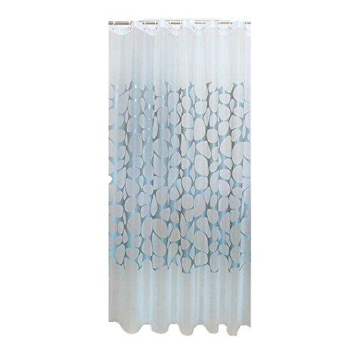 80 x 180cm PEVA Wasserdichte Stoff Bad Duschvorhang mit Vorhang Haken Ringe , gray stone width 80* high 180+