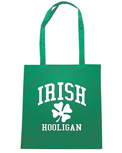 T-Shirtshock - Borsa Shopping OLDENG00840 irish hooligan shamrock Verde
