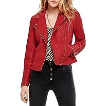 f3fdee05a72d8 Only Cazadora Gemma Biker Rojo Mujer