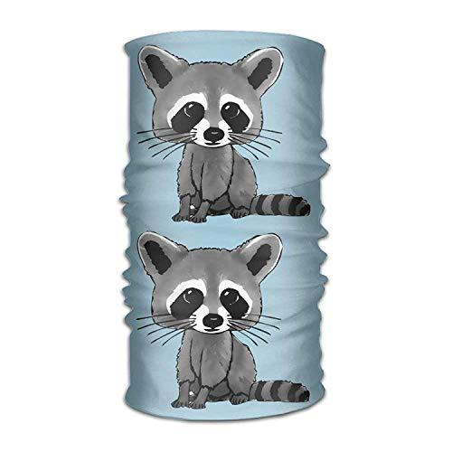 Headband Novelty Raccoons Cartoon Multifunction Magic Handscarf,Face Mask,Neck Gaiter,Balaclava,Sweatband,Head Wrap,Outdoor Sport UV Resistence. - Freezer Cleaner