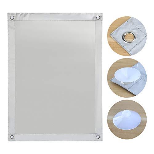 OBdeco Thermo Rollo Dachfenster Sonnenschutz Verdunkelungsrollo für Velux Hitzeschutz ohne Bohren mit Saugnäpfen (Weiß, 37x73cm)