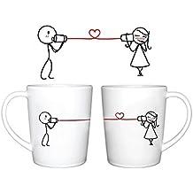 Human Touch - Amor susurros tazas - Juego de 2 tazas