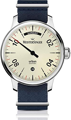 MeisterSinger Urban Day Date URDD913 Reloj automático con sólo una aguja