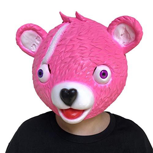 HUIHUI Plüschtier, Cuddlekins Kuscheltier 30CM Cartoon weicher rosa Bär Puppe gefüllte Spielzeug Plüsch Puppe Spielzeug / Bear Mask Kostüm Cosplay Spielzeug (Rosa 2)