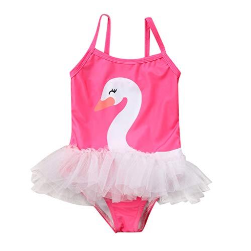 QinMMROPA Bañador Estampado Cisne para Bebé Niñas, Bebes Niñas Infantil bañador de Natación Piscina...