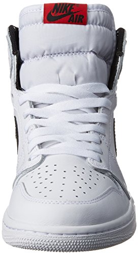 Nike Air Jordan 1 Retro High Og, espadrilles de basket-ball homme Blanco (White / Black-White)