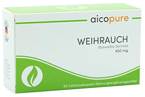h15 weihrauch kapseln WEIHRAUCH 450 mg • Boswellia Serrata • Weihrauch Kapseln • vegan • 292,5 mg reine Boswellinsäuren • Made in Germany (60 Kapseln)