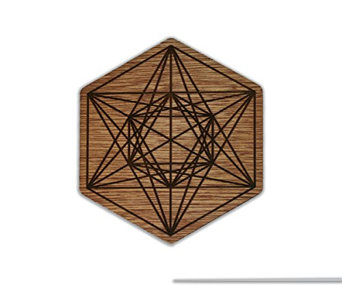 Fruit of Life & Metatron`s Cube - Sacred Geometry - Custom Wooden Coaster Set