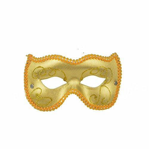 Maskerade,Kinder Festival Party Maske Spiel Show Requisite halbe Gesicht bemalte Maske gelb Masquerade