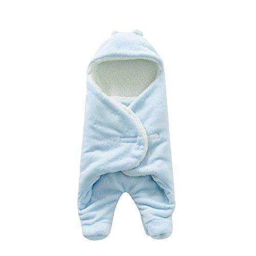 Baby Neugeborene super weiche warme Lampenhülse Plüsch Schlafsäcke (Blau)