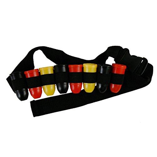 Shot-Gürtel für 8 Kurze Fussball-Fanartikel für Kopf und Körper Deutschland schwarz-rot-gold (Shot-Gürtel) -