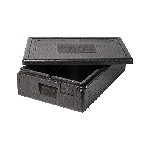 Thermo Future Box Box GN 1/1 Premium-117 mm Transport-und Isolierbox, EPP (expandiertes Polypropylen), Schwarz, 60 x 40 x 18 cm