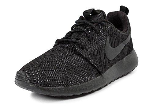 Nike Wmns Roshe One Moire, Chaussures de Running Compétition Femme Noir / Noir-Blanc