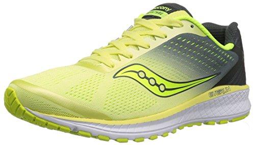 Saucony Women's Breakthru 4 Running Shoe, Lime/Grey, 10.5 Medium US