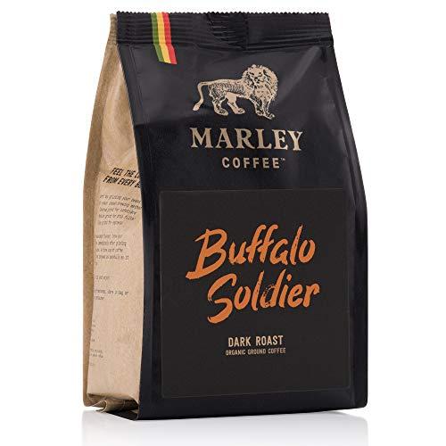 Buffalo SoldierDunkel gerösteter, gemahlener Bio-Kaffee, Marley-Kaffee, aus der Familie von Bob Marley, 227g