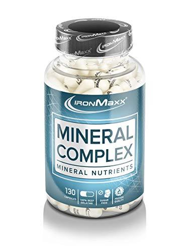 Ironmaxx Mineralkomplex – Mineralkapseln für effektivere Trainingsergebnisse und ein besseres Wohlbefinden – 1 x 130 Kapseln