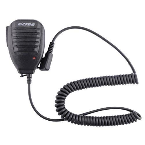 BAOFENG Handfunkgerät Schulter Radio Speaker Hand Microphone Lautsprecher Funkgeräte UV-5R / BF-888S (Radio Baofeng)