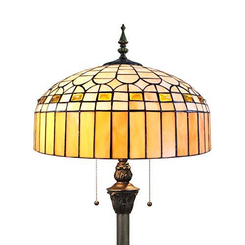 Tiffany Stehlampe Modern Wohnzimmer Bernstein Retro, Buntglas Einfacher Stil Glas Lampenschirm Stehlampe Bunt 64 Zoll by FBOSS