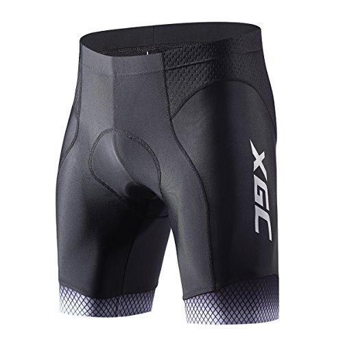 XGC Herren Kurze Radhose und Radunterhose Radsportshorts Fahrradhose für Männer Elastische Atmungsaktive 3D Schwamm Sitzpolster mit Einer Hohen Dichte (Grey, M)