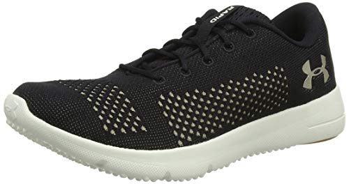 Under Armour UA W Rapid, Zapatillas de Running para Mujer, Negro (Black/Ivory/Metallic Faded Gold 004), 37.5 EU