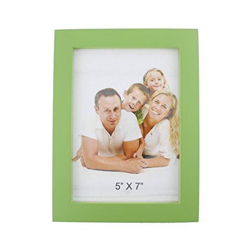 Einfach rechteckig Holz Desktop Family Bilderrahmen, holz, grün, 5 x 7 (Familie Bilderrahmen 5x7)