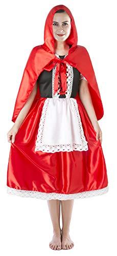 Seawhisper Halloween Kostüm Damen Rotkäppchen Kostüm Faschingskostüme Damen Sexy