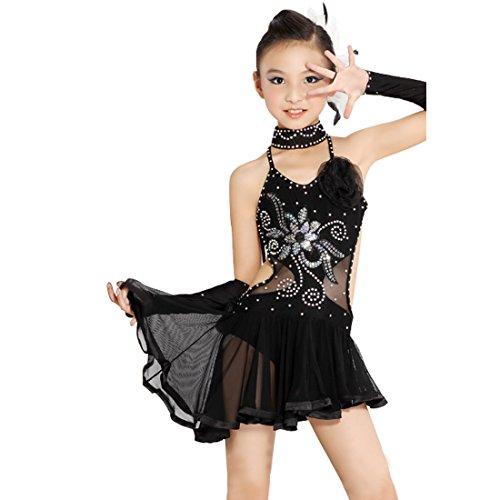 nce Kleid Frauen Pailletten Tassel Rock Damen Latin Dance Kleid Ballsaal Salsa Dance Wettbewerb Kostüme (Damen Latin Dance Kostüme)