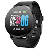 Smartwatch Impermeabile Fitness Wristband con pressione sanguigna Frequenza cardiaca Sonno Monitor...