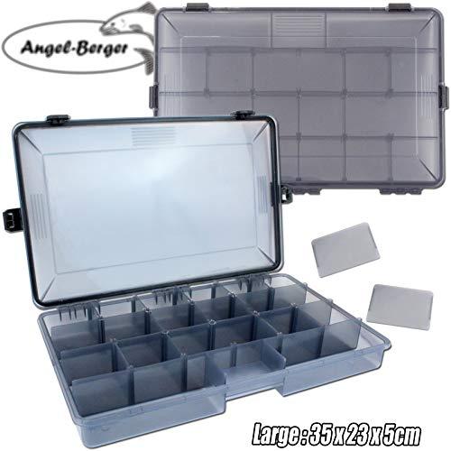 Angel-Berger Pro Tackle Box Zubehörbox Köderbox wasserdicht (Large)