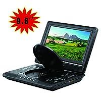 """Portable DVD Player 9""""Swivel Screen, HD 3D Image, Region Free, Long Lasting Battery, Support AV-In/AV-Out/SD/USB (Black)"""
