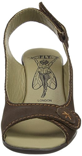 Fly London Josh857fly, Sandali Con Zeppa Donna Marrone (Mocca 001)