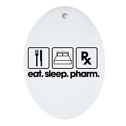 CafePress Dekofigur Eat Sleep Pharm, oval -