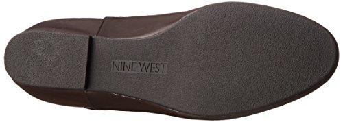 Nine Nine Tiberia Black Lederkniehohe Dark Stiefel West Brown West ZCZ45