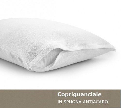 Copriguanciale con cerniera zucchi basics in spugna antiacaro 50 * 80 copri cuscino federa guanciale