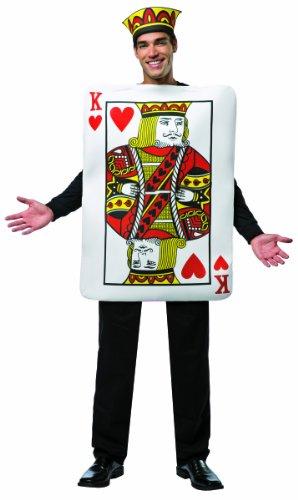 Herz-König-Karte Kostüm für Herren Einheitsgröße (Der König Der Herzen Kostüm)