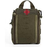 Yisibo Combat Medical Pouch Molle Rip-Away EMT medico pronto soccorso Utility Pouch Bag in Nylon Cintura Con Fibbia Cinghia e velcro fissaggio 3colori, Ranger Green