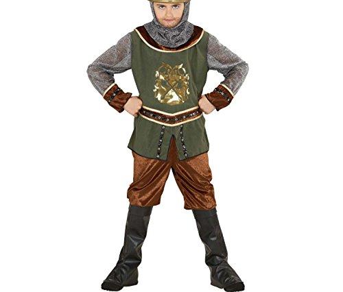 Terrasse Hose (Widmann 76487 - Kinderkostüm Wikinger, Kasack, Hose, Stiefelbedeckung und Kapuze, Gröߟe 140)