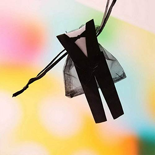 Bags & Wrapping Supplies - Organza Drawstring Candy Favor Bags Tuxedo And Dress Bride Groom Gift Decoration - Favor Gift New Wedding Groom Dress Bag Gift Candy Lipstick Gift Box And Wedd