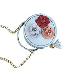 Preisvergleich für Westeng Tasche für Kinder Süss Mini Runden Umhängetasche mit Blume, Niedlich Rucksack für Mädchen Geschenk